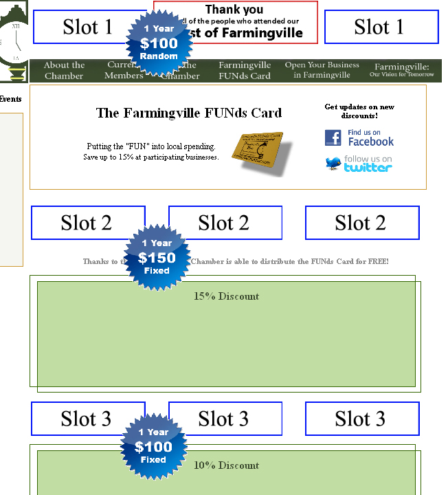 Advertise Your Business With A Web Banner on FarmingvilleChamber.com